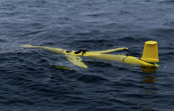 Slocum Glider in water